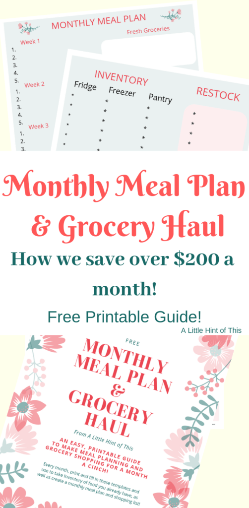 Meal Plan & Grocery Haul | Part 2 - A Little Hint of This